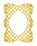 Smycka beståndsdelar, designer för guld- ram för tappning blom- Royaltyfri Fotografi