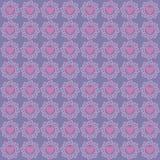 Smycka lilor för förälskelsemodellbakgrund stock illustrationer