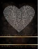 smyckad hjärta Royaltyfri Foto