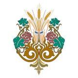 Smyckar den dekorativa färgrika världen för den abstrakta orientaliska mosaiken grafiskt royaltyfri illustrationer