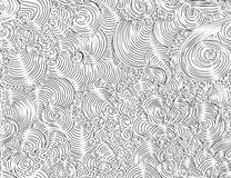 Smyckar den sömlösa modellen för den abstrakta härliga vektorn med dekorativt krulla, linjer, klotter stock illustrationer