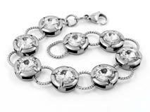 Smycken - armband - rostfritt stål Fotografering för Bildbyråer