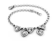 Smycken - armband - rostfritt stål Arkivbild