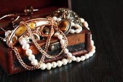Smycken boxas Arkivbilder