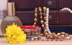 Smycken boxas royaltyfri foto