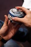 Smycken boxas gjort från återanvänt pappers- Arkivfoton