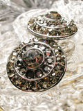 smycken för crystal exponeringsglas Royaltyfri Fotografi