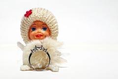 smycken för gåva för briljantbroschsmaragd Fotografering för Bildbyråer
