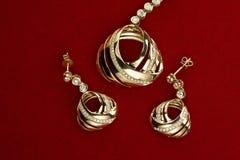 smycken för guld 18k Fotografering för Bildbyråer