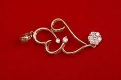 smycken för guld 18k royaltyfri fotografi