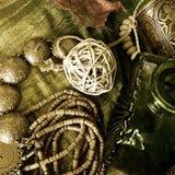 smycken för konstbakgrundsmode Arkivfoto