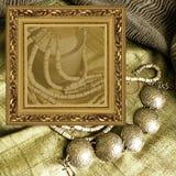 smycken för konstbakgrundsram Arkivfoton