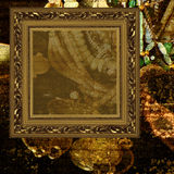 smycken för konstbakgrundsram Fotografering för Bildbyråer