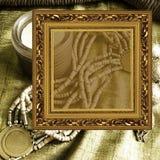 smycken för konstbakgrundsram Royaltyfri Fotografi