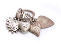 Smycken för valentinhjärtagarnering arkivfoto