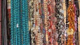 Smycken från gemstones stock video