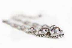 Smycken med kristaller royaltyfri fotografi