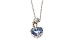 Smycken med safir Royaltyfri Fotografi
