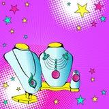 Smycken på en kugge stock illustrationer