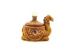 Smyckenask i formen på kamel arkivbilder