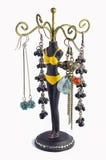 Smyckenhållare och örhängen Arkivbilder