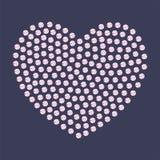 Smyckenhjärta av kristaller och gemstones Fotografering för Bildbyråer