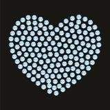 Smyckenhjärta av kristaller och gemstones Arkivfoto