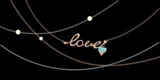 Smyckenkedjor - förälskelse Arkivbilder