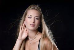 smyckenkvinna Fotografering för Bildbyråer