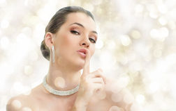 smyckenkvinna Royaltyfri Fotografi