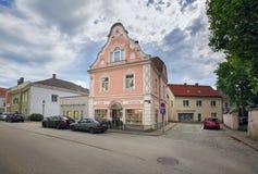 Smyckenlager i den historiska mitten av staden av Ybbs en der Donau, Österrike royaltyfri foto
