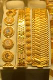 Smyckenlager i storslagen basar i Istanbul Royaltyfri Bild
