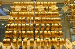 Smyckenlager i storslagen basar i Istanbul Royaltyfria Bilder