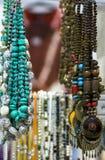 smyckenpärlor och naturliga stenar Royaltyfri Fotografi