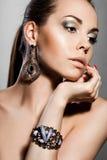 smyckensilverkvinna Royaltyfri Fotografi