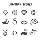 Smyckensymboler Arkivbild