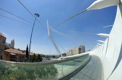 Smyczkowy most przy wejściem Jerozolima Zdjęcie Stock