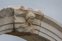 Smyrna,伊兹密尔古城的废墟 图库摄影