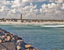 smyrna пляжа новое Стоковые Фото