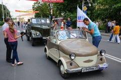 SMZ-sidecar (1958-1970 Sovjet-gjorde bilen Arkivbilder