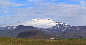 Snæfellsjökull volcano and glacier in western Iceland Stock Photo