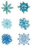 Snö vektor illustrationer