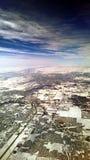 Snö ankommer Arkivfoton