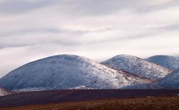 Snö dolda Rolling Hills Arkivbild