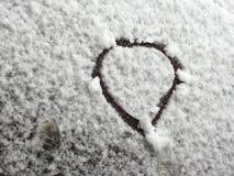 Snö Doodlling royaltyfri bild
