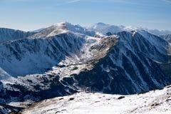 Snö-draperad dal i den höga Tatrasen, Slovakien Arkivbilder