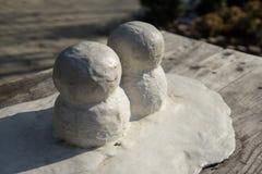 Snö för kortkort två mans royaltyfri bild