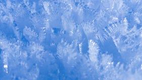 Snö flagar i iskristaller Royaltyfri Foto