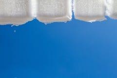 Snö från taket Arkivbilder