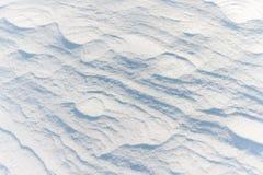 Snö fryste i vinden Arkivfoton